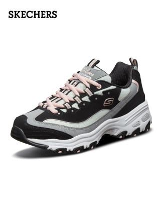 Skechers  giày bánh mì / giày Platform Skechers SKECHER giày nữ mới đế dày đế xốp đế giày cũ màu gấu