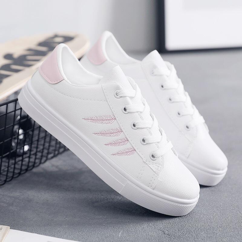 Giày Sneaker / Giày trượt ván Giày trắng nhỏ nữ 2019 mới xuân hè thu nhỏ đường phố chụp giày sinh vi