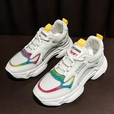 Giày nữ hàng Hot Nhà máy sản xuất giày đế dày dày xuyên biên giới trực tiếp tăng phiên bản màu Hàn Q