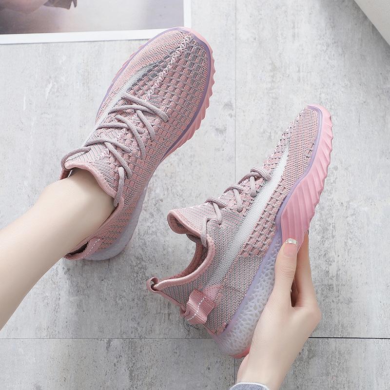 Giày lưới Túi tóc giúp mùa hè 2019 Giày nữ mới thoáng khí Giày dừa hoang dã Giày dệt lưới Giày thể t