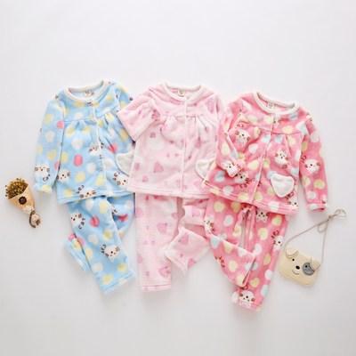 Phòng kiểu Nhật Đồ ngủ trẻ em 19IN Bộ đồ ngủ trẻ em Hàn Quốc thiết lập xuyên biên giới mùa thu và mù