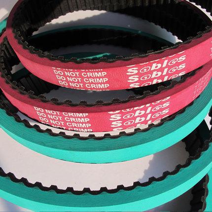 Sables dây đai cao su Thêm nhựa màu đỏ xanh thời gian cao su vành đai máy đóng gói máy màng đai vành