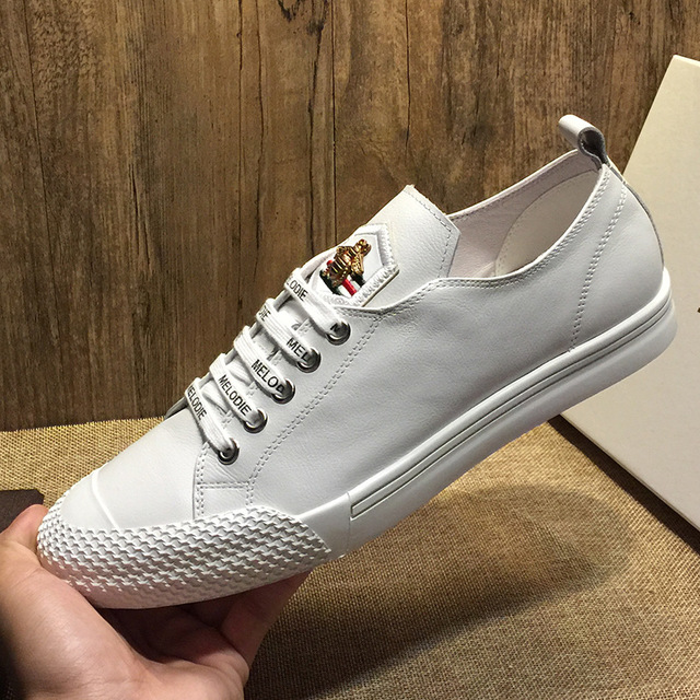 JOEMUSWOLF Giày trắng nữ Túi tóc giúp giày da châu Âu Giày trắng nam Giày thông thường Hàn Quốc 2019