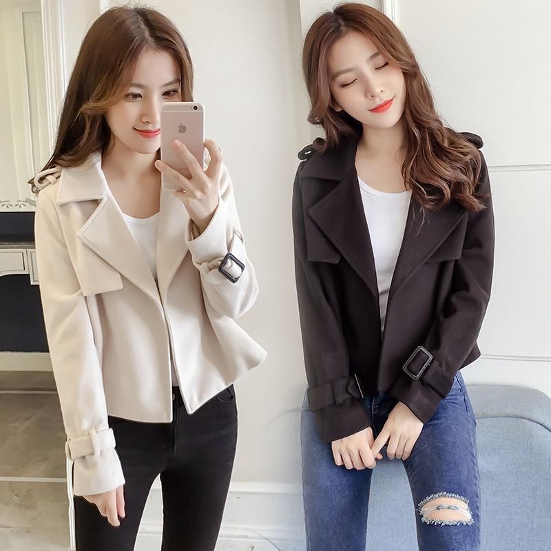 Áo khoác lửng Áo khoác công sở nữ mùa thu đông 2019 mới Hàn Quốc ngắn áo khoác nhỏ áo khoác mỏng áo