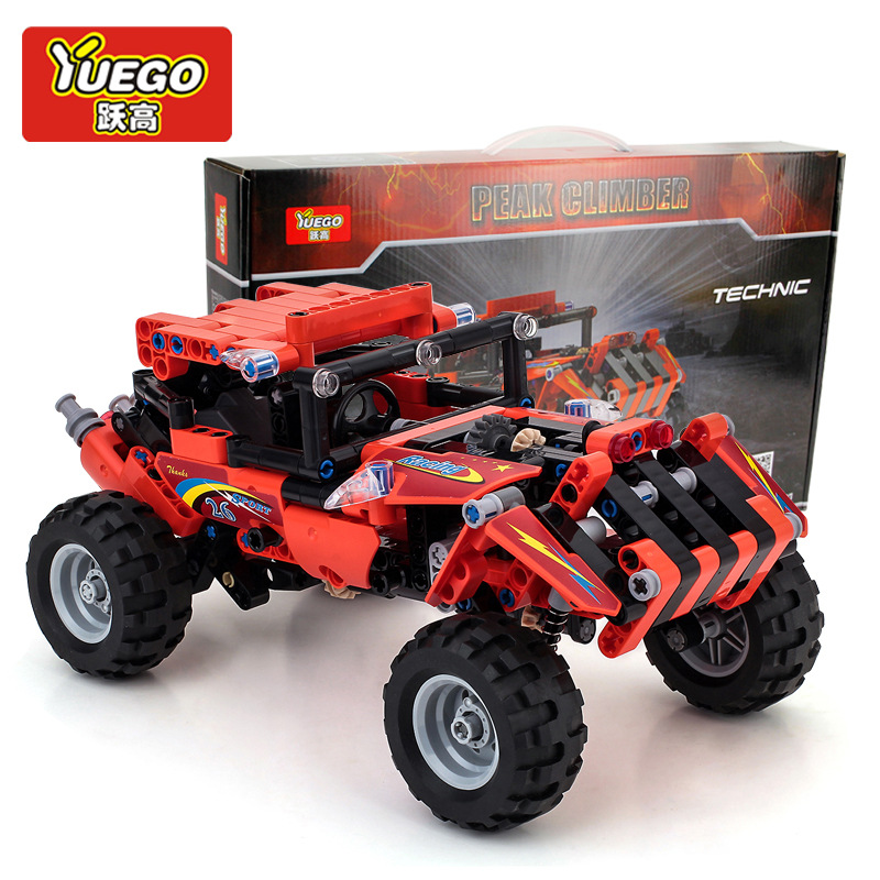 Xe đồ chơi Xe nhảy Climber khối đá đỏ cao tầng.