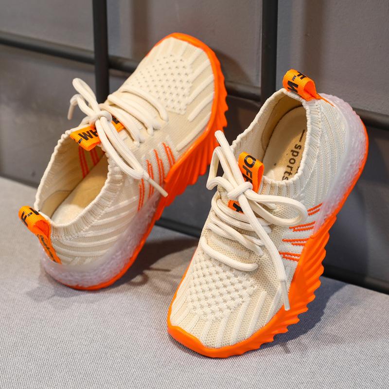 KADINGTONG Giày lưới Túi đựng tóc giúp Giày thể thao cho trẻ em 2019 mới mùa thu lưới màu đỏ thời tr