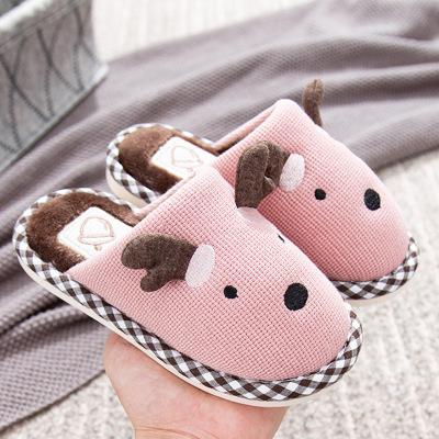 dép trẻ em 2019 dép trẻ em ấm áp mới mùa thu và mùa đông cotton chống trượt cho trẻ em kéo giày thoả