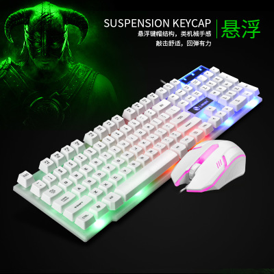 LIMEI Bộ bàn phím + chuột Bộ bàn phím và chuột ánh sáng có dây Limei GTX300 Bàn phím và chuột USB Cầ