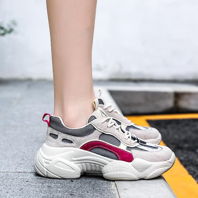 Giày nữ hàng Hot Túi tóc giúp mùa thu 2019 phiên bản mới của Hàn Quốc về sự khôn ngoan của giày lưới