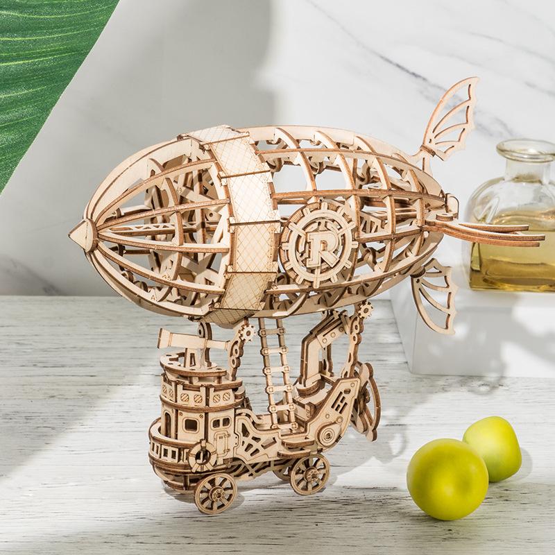 NUOTAI Tranh xếp hình 3D Laser tạo bộ gỗ câu đố ba chiều Câu đố ba chiều 3D mô hình DIY bản đồ sáng