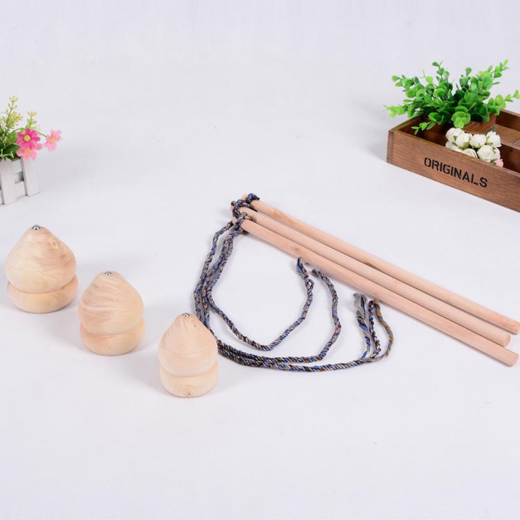 PLWT Bông vụ Ginkgo hình bầu bằng gỗ 6CM, 7cm, 8cm