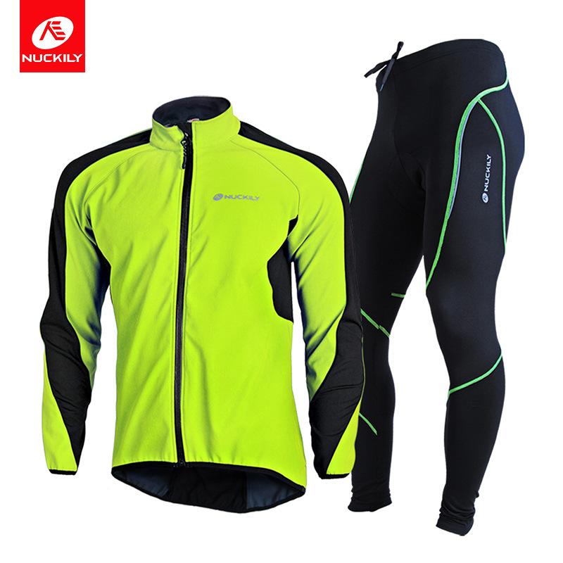 NucksILY Trang phục xe đạp xe đạp leo núi phù hợp với thể thao ngoài trời mùa thu mùa đông ấm áp phù