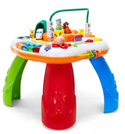 Gu Yu Đồ chơi học bàn đa chức năng giáo dục sớm song ngữ bàn trò chơi giáo dục bàn đồ chơi trẻ em bà
