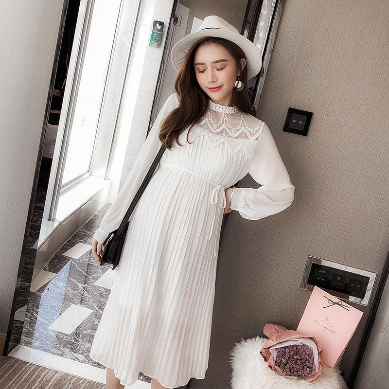 YBR Trang phục bầu Giá ròng 2019 quần áo bà bầu xuân hè thời trang mới thủy triều mẹ lỏng lẻo đầm dà