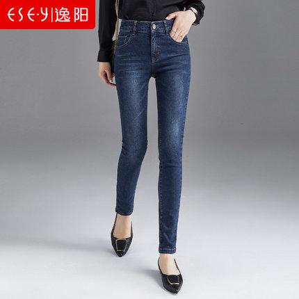Yiyang Quần Quần yiyang nữ quần cạp cao và quần nhung mùa thu và quần bút chì mùa đông Quần lọt khe