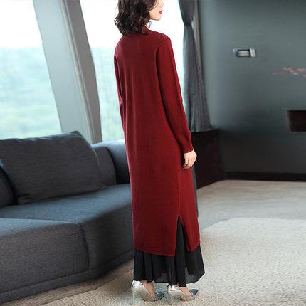 HUANJINSHAN Áo khoác Cardigan Mùa thu 2019 áo len mới của phụ nữ mùa xuân và mùa thu dài của đầu thu