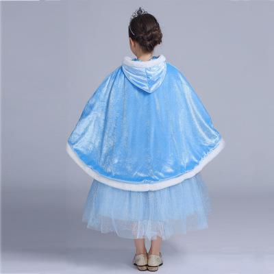 DONNA Áo choàng trẻ em  Trẻ em khăn choàng công chúa ăn mặc lãng mạn băng nhỏ mũ trùm đầu màu đỏ áo