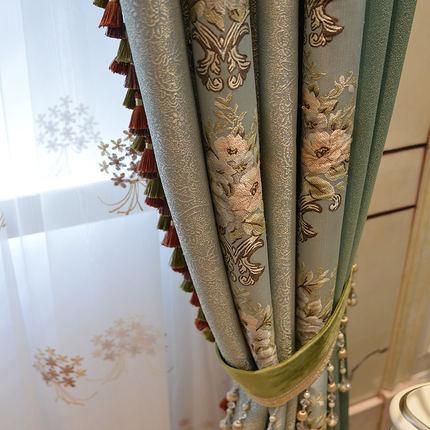 yesland  Vải Yarn dyed / Vải thun có hoa văn Biệt thự Mỹ Rèm sang trọng Jacquard Rèm châu Âu Phòng