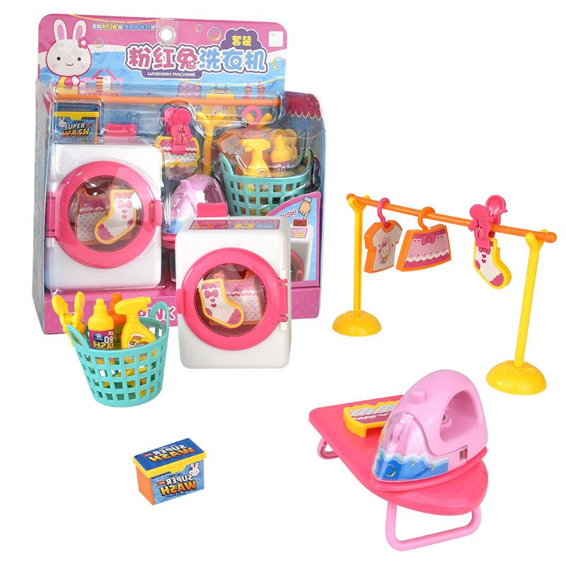 YIYAN Đồ chơi Một từ 17119 thỏ hồng mô phỏng bác sĩ chơi nhà bếp đồ chơi gian hàng trẻ em đồ chơi gi