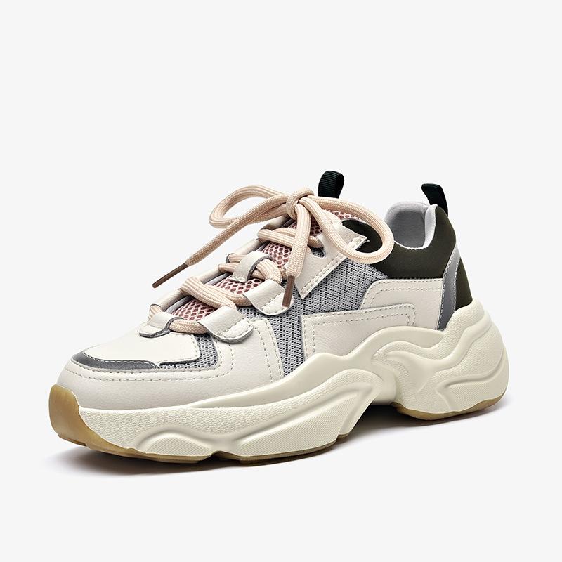 Giày tăng chiều cao Giày nữ nữ 2019 thu đông mới cộng với giày thể thao nhung nữ đế dày Phiên bản Hà