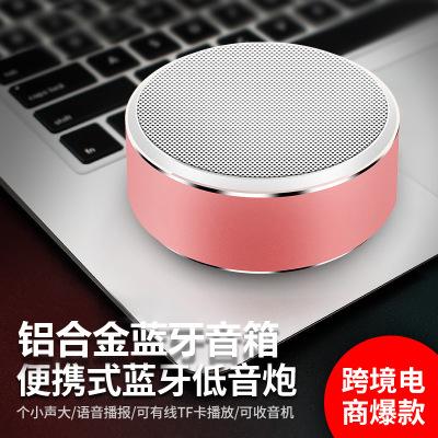 ZHONGXING Loa Bluetooth Loa Bluetooth A8 Thẻ không dây di động Kim loại Loa nhỏ Doanh nghiệp Logo tù