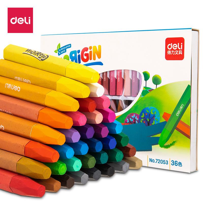 DELI Đồ mỹ nghệ Phấn màu dầu hiệu quả 12 màu 18 màu 24 màu 36 màu trẻ em sơn phấn màu phấn nghệ thuậ