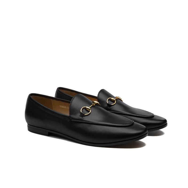 JIALINU Giày Loafer / giày lười Túi để giúp Châu Âu và Hoa Kỳ mới khóa ngựa thông thường Giày Lok Fu