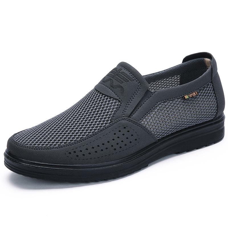 BURUIJING Giày lưới Mùa hè 2018 giản dị giày lưới nam bán buôn ngoại thương cũ giày vải Bắc Kinh tho