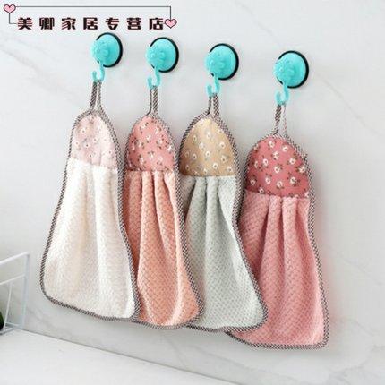 MUCHUN Vải khăn lông   Có thể sử dụng lông cừu san hô, khăn lau tay, giẻ dày, bếp gia đình, khăn thấ
