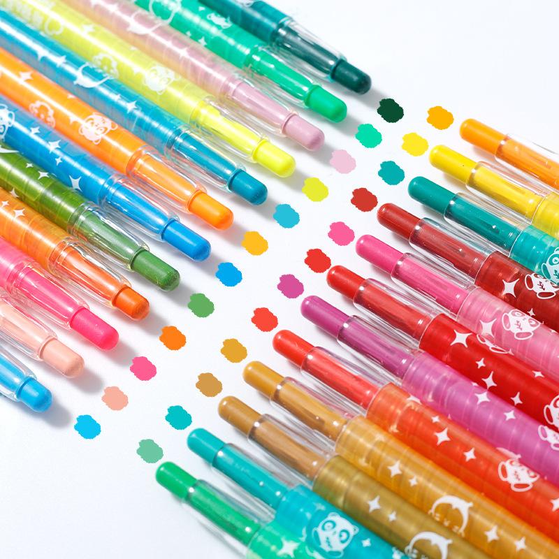 XUEZI Đồ mỹ nghệ 24 màu sơn dầu cọ màu thanh vật liệu sơn bút chì màu đặt tranh 36 bút màu sinh viên