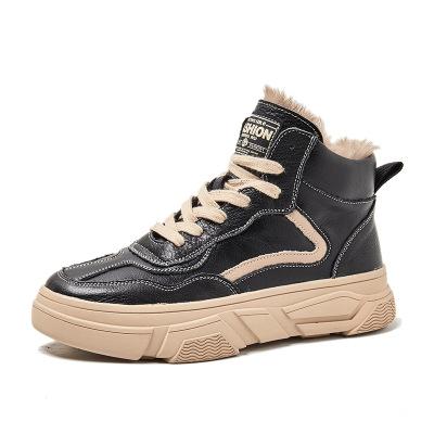 Giày Loafer / giày lười Giày da ngắn Martin boot cotton cotton nữ triều thủy 2019 mới mùa thu và mùa