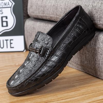 Giày mọi Gommino Mùa xuân và mùa thu mới giày nam đậu Hà Lan giày cá sấu Giày da nam da một chân già