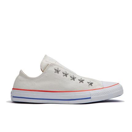 CONVERSE Giày nữ trào lưu Hot CONVERSE chính thức Giày vải giản dị không có dây buộc của phụ nữ All