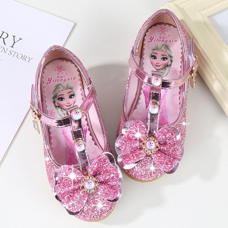 YITONGXIN Giày trẻ em Hot Giày cao gót nữ công chúa 2019 mùa thu mới cho trẻ em giày tuyết tuyết lãn