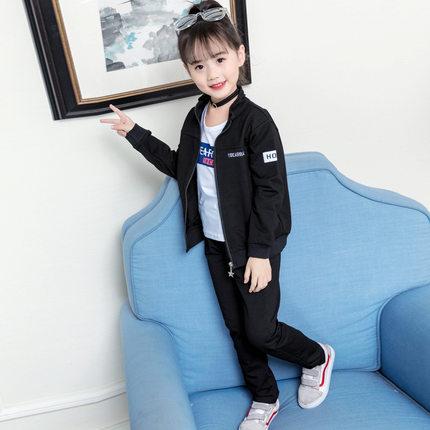CadierHepburm  Đồ Suits trẻ em  Bộ đồ bé gái mùa thu 2019 mới dành cho người hâm mộ thủy triều quần