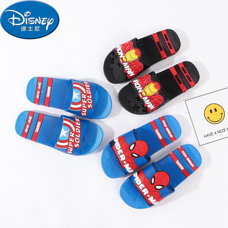 Disney 2019 Disney Summer New Children Trượt mềm Phòng tắm dưới nhà tắm Người nhện đi dép thông thườ