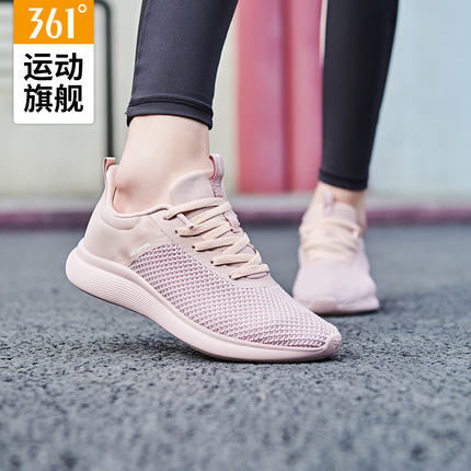 361 Giày lưới  Giày nữ 361 giày chạy bộ mùa thu 2019 mới thoáng khí bề mặt lưới giày chạy bộ giày lư