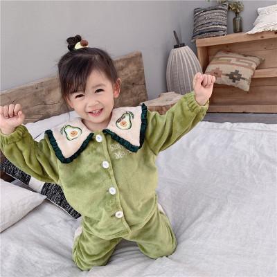 yyoumm Đồ ngủ trẻ em Youyou cat rice 2019 mùa đông phiên bản mới của Hàn Quốc với chiếc áo choàng bằ