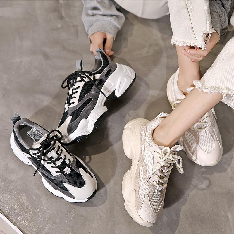 YIDIANLIANG Giày tăng chiều cao Nhà máy trực tiếp giày Laojiao nữ 2019 đầu thu nước ngoài khí hoang