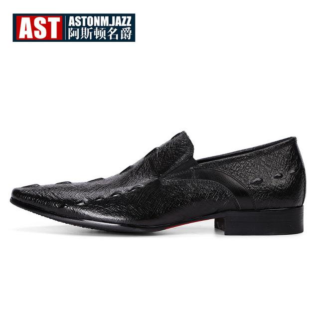 ASDMJ thị trường giày nam Túi tóc giúp mùa thu 2019 cho nam mới ăn mặc giày đơn Giày da cá sấu Anh k