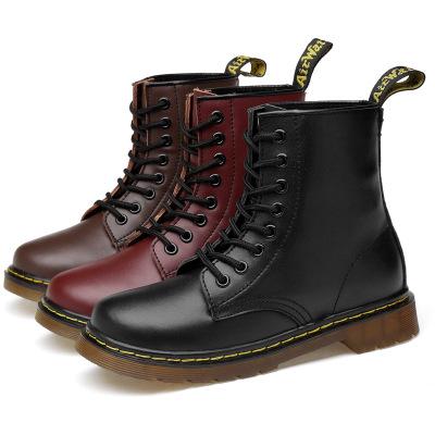 Giày da một lớp  Giày cao cổ 1460 Martin cổ cao Giày da 8 lỗ nam và nữ những người yêu thích giày đế
