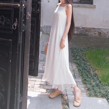 Jubonnie  Sợi gai  Jia Pei Ni hoang dã sợi tre đan nút thắt đáy váy Zen guqin quần áo trà váy dài LY