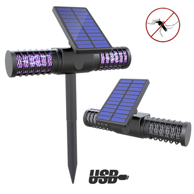 LIEGUANG Đèn diệt muỗi Chống muỗi tạo tác năng lượng mặt trời đèn muỗi ngoài trời không thấm nước sâ