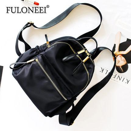 FULONEEI  Vải Nylon  Furoni nylon Oxford ba lô vải nữ phiên bản Hàn Quốc 2018 túi mới hoang dã ba lô