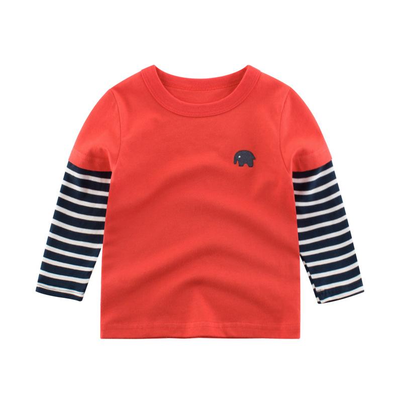 27kids áo thun 27kids mùa thu quần áo trẻ em mới bán buôn Phiên bản tiếng Hàn của áo thun dài tay ch