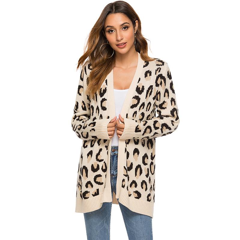 NELLBANG Áo khoác Cardigan Áo len lông cừu trong chiếc áo len dài của phụ nữ áo len dệt kim 2019 thu
