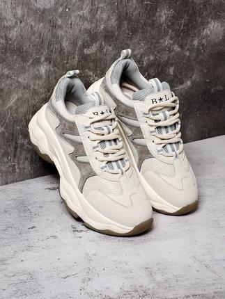 BELLE  Giày lười / giày mọi đế cao  Giày đế dày đế dày cho nữ mùa thu 2019 trung tâm mua sắm mùa thu