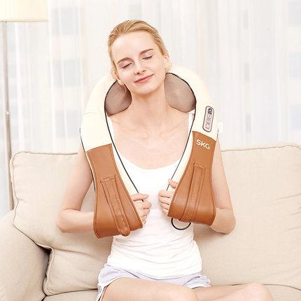 SKG Máy massage  SKG nhào nóng massage khăn choàng cổ tử cung vai eo massager đa chức năng