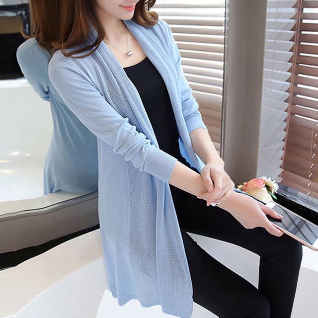 áo khoác Xuân-Hè 2017 phiên bản Hàn Quốc mới của áo dài điều hòa áo choàng khăn choàng mỏng áo chống