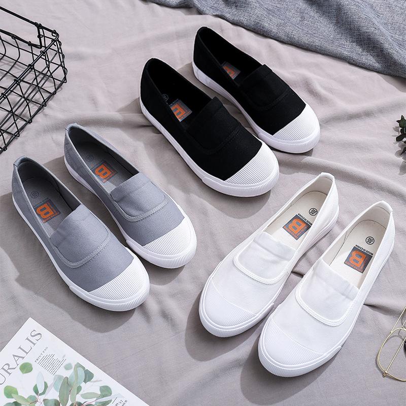 FEIYAO Giày vải nam Yao Yao đặt chân giày thể thao phiên bản tiếng Hàn của bàn đạp nông miệng nhẹ Ph